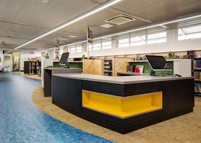 We designed the library section for this high school in suburban Adelaide