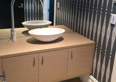 We designed and installed the vanity in this Burnside client's bathroom in suburban Adelaide