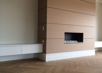 We designed this gorgeous fireplace as a feature wall in this suburban Adelaide client's living room