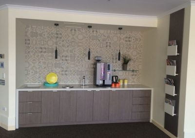 Pantry storage and counter-top done right for this client's office in suburban Adelaide