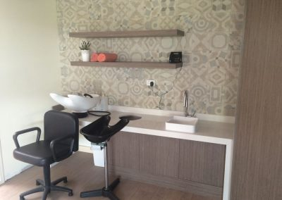 Customised joinery work done for this salon in Unley - a suburb of Adelaide