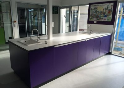 CabTech designed and installed this island unit for a school's science room in suburban Adelaide