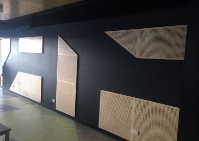 We designed, fabricated and installed these customised wall panels for a commercial building in suburban Adelaide