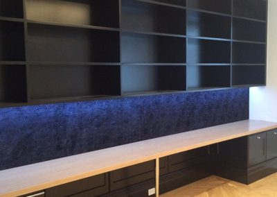 CabTech designed and installed this wall-mount display cabinet for a Semaphore client's living room